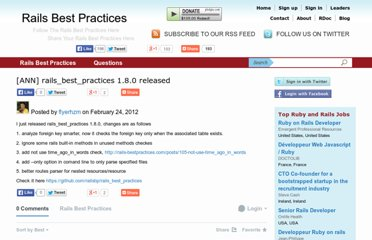 http://rails-bestpractices.com/blog/posts/34-ann-rails_best_practices-1-8-0-released