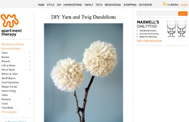 http://www.apartmenttherapy.com/diy-yarn-and-twig-dandelions-109850