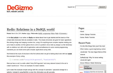 http://degizmo.com/2010/03/23/redis-relations-in-a-nosql-world/