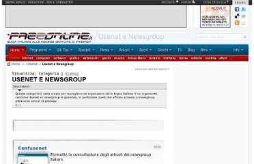 http://www.freeonline.org/dir/c-98/Usenet%20e%20Newsgroup