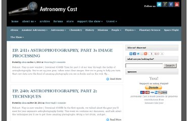 http://www.astronomycast.com/category/amateur-astronomy/
