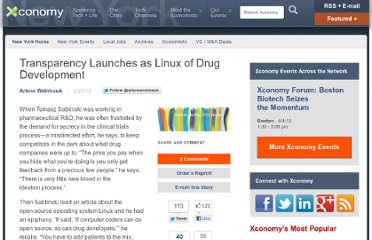 http://www.xconomy.com/new-york/2012/02/23/transparency-launches-as-linux-of-drug-development/