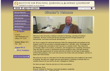 http://www.albany.edu/teachingandlearning/directors_welcome.shtml