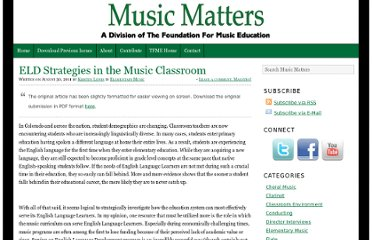 http://foundationformusiceducation.org/musicmatters/2011/08/eld-strategies-in-the-music-classroom/