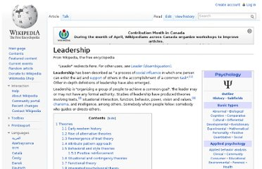 http://en.wikipedia.org/wiki/Leadership