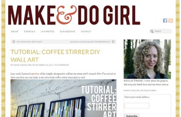 http://makeanddogirl.com/2011/10/tutorial-coffee-stirrer-diy-wall-art/