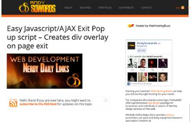 http://www.andysowards.com/blog/2008/easy-javascriptajax-exit-pop-up-script-creates-div-overlay-on-page-exit/