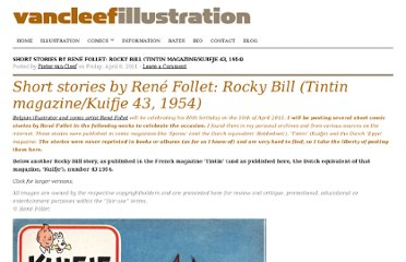 http://vancleef-illustration.com/2011/04/08/short-stories-by-rene-follet-rocky-bill-tintin-magazinekuifje-43-1954/