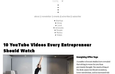 http://www.inc.com/ss/10-youtube-videos-every-entrepreneur-should-watch#7