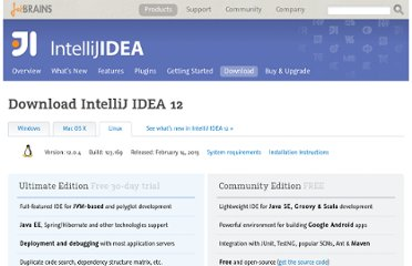 http://www.jetbrains.com/idea/download/