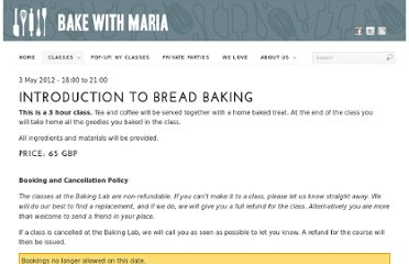 http://www.bakewithmaria.com/events/59/introduction-to-bread-baking/