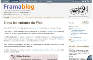 http://www.framablog.org/index.php/post/2012/02/25/nous-enfants-du-web
