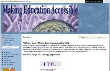 http://makingeducationaccessible.wikispaces.com/?responseToken=0ba1ba81d142c04a03a9a21906e9966e8