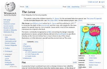 http://en.wikipedia.org/wiki/The_Lorax