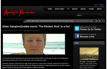 http://www.apocalypticmovies.com/alien-vampirezombie-movie-the-kitchen-sink-is-a-go/