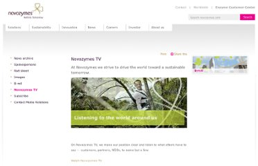 http://www.novozymes.com/en/news/Pages/Novozymes-TV.aspx