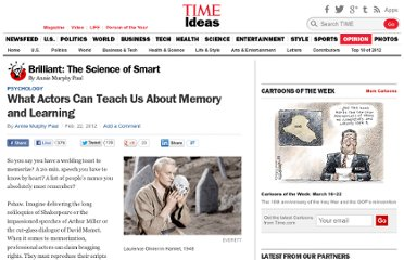 http://ideas.time.com/2012/02/22/what-actors-can-teach-us-about-memory-and-learning/