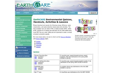http://www.earthcarecanada.com/EarthCARE_Program/EarthCARE_lessons.asp