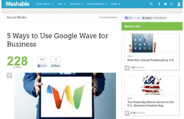 http://mashable.com/2010/03/08/google-wave-business-uses/