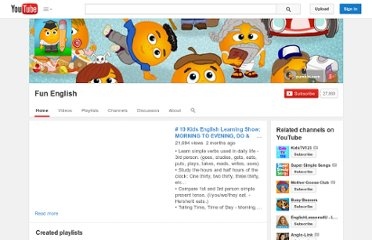 http://www.youtube.com/user/KidsOnlineEnglish