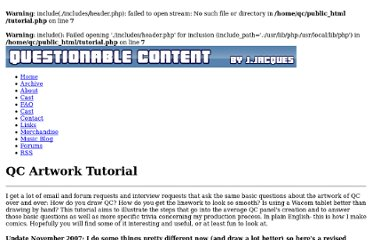 http://questionablecontent.net/tutorial.php