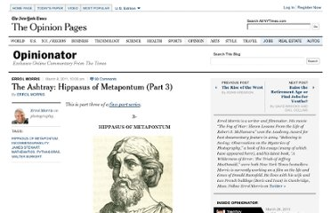 http://opinionator.blogs.nytimes.com/2011/03/08/the-ashtray-hippasus-of-metapontum-part-3/