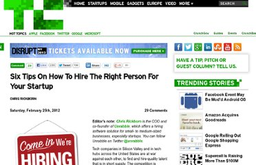 http://techcrunch.com/2012/02/25/how-to-hire/