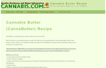 http://cannabis.com/faqs/cannabis_recipes/cannabis_butter_recipe/index.html
