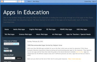 http://appsineducation.blogspot.com/2012/02/1000-recommended-apps-sorted-by-subject.html