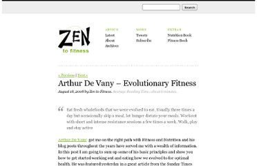 http://zentofitness.com/arthur-devany-a-simple-overview/