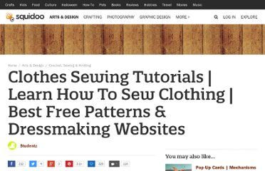 http://www.squidoo.com/learn-how-to-sew-clothes-clothing-sewing-tutorials-free-patterns-best-websites