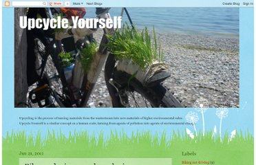 http://upcycleyourself.blogspot.com/2011/06/bike-gardening-sock-gardening.html
