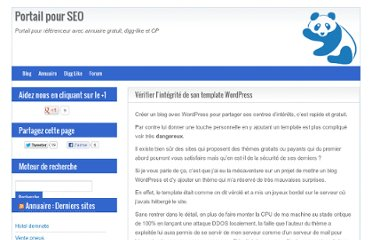 http://www.seo-portail.com/2012/02/21/verifier-integrite-template-wordpress/