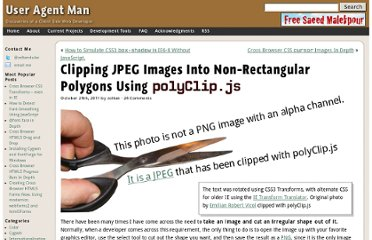 http://www.useragentman.com/blog/2011/10/29/clipping-jpeg-images-into-non-rectangular-polygons-using-polyclip-js/