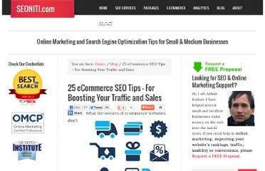 http://www.seoniti.com/blog/25-ecommerce-seo-tips-for-unfair-market-advantages/