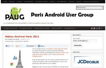 http://www.paug.fr/evenement-android/videos-devfest-paris-2011/