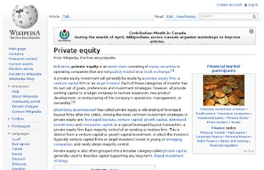 http://en.wikipedia.org/wiki/Private_equity