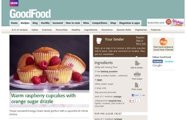 http://www.bbcgoodfood.com/recipes/2210/warm-raspberry-cupcakes-with-orange-sugar-drizzle