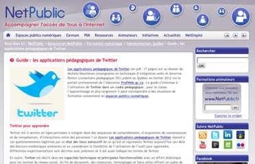 http://www.netpublic.fr/2012/02/guide-applications-pedagogiques-twitter/