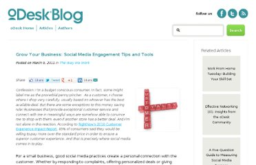 https://www.odesk.com/blog/2011/03/grow-your-business-social-media-engagement-tips-and-tools/