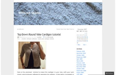 http://milobo.wordpress.com/2007/12/16/eyelet-yoke-crochet-cardigan-tutorial/