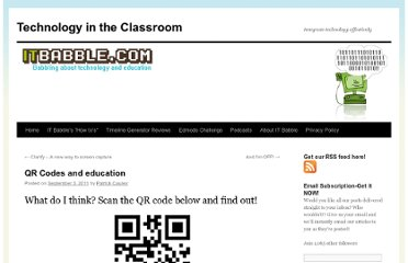 http://itbabble.com/2011/09/03/qr-codes-and-education/