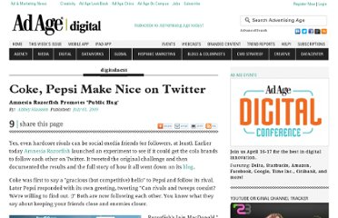 http://adage.com/article/digitalnext/brands-twitter-coke-pepsi-make-nice/137709/