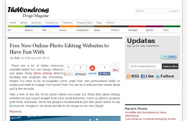 http://thewondrous.com/free-new-online-photo-editing-websites-to-have-fun-with/