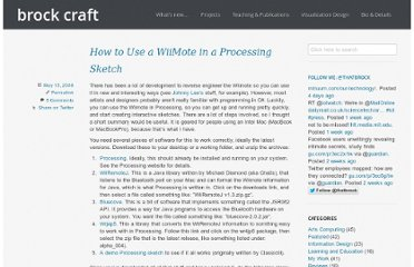 http://www.brockcraft.com/2008/05/15/how-to-use-a-wiimote-in-a-processing-sketch/