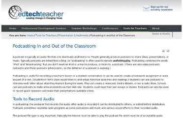http://edtechteacher.org/index.php/teaching-technology/presentation-multimedia/134-podcasting