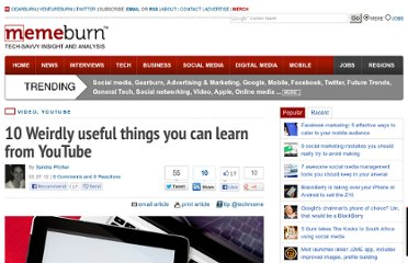 http://memeburn.com/2012/02/10-weirdly-useful-things-you-can-learn-from-youtube/