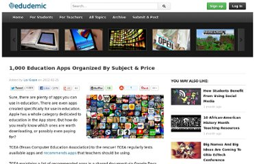 http://edudemic.com/2012/02/1000-apps/