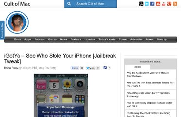 http://www.cultofmac.com/93562/igotya-see-who-stole-your-iphone-jailbreak-tweak/