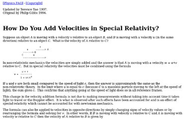 http://math.ucr.edu/home/baez/physics/Relativity/SR/velocity.html